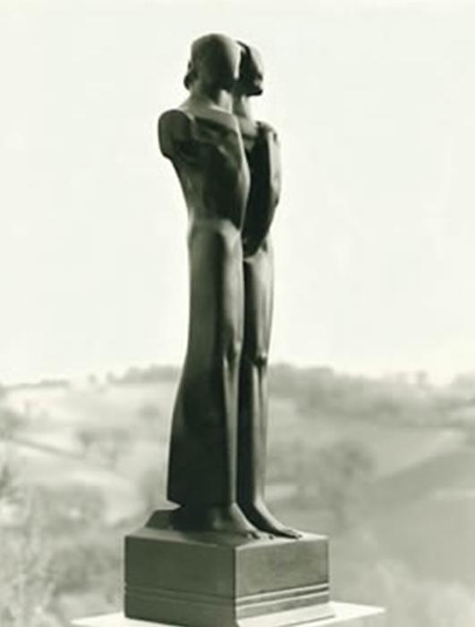 1988 - Pietra Lavica del Vesuivio - Simbiosi - Parma - Coll. Galleria Modula Arte - 90x30cm