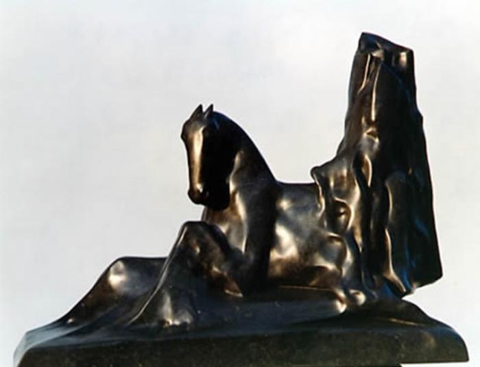 1993 - Lava del Vesuvio - Cavaliere - Parma - Coll. Galleria Modula Arte - 85x55cm