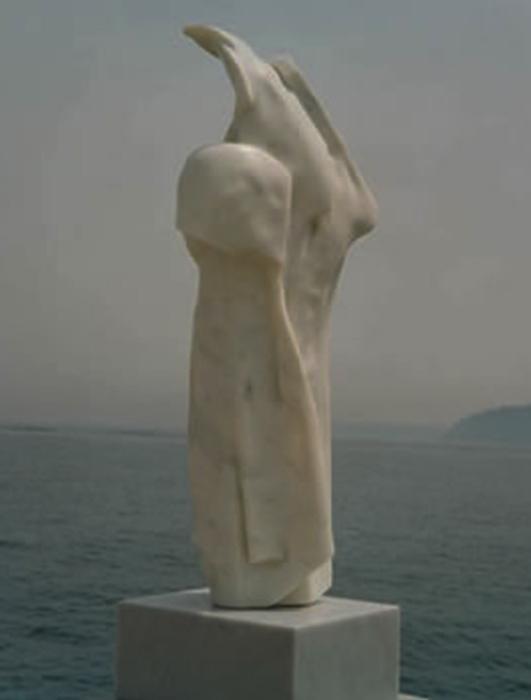 1997 - Marmo Bianco di Carrara - Germania - Coll. Menz - 94x40cm
