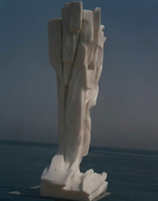 1999 - Marmo Bianco di Carrara - Coll. Guddas - Bremen - 89x46cm