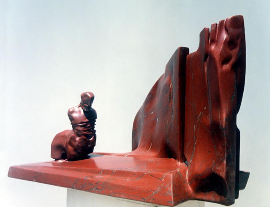 2003 - Marmo Rosso Mulas - Centauro - Colonia - Coll. G. de Angelis - 58x90cm