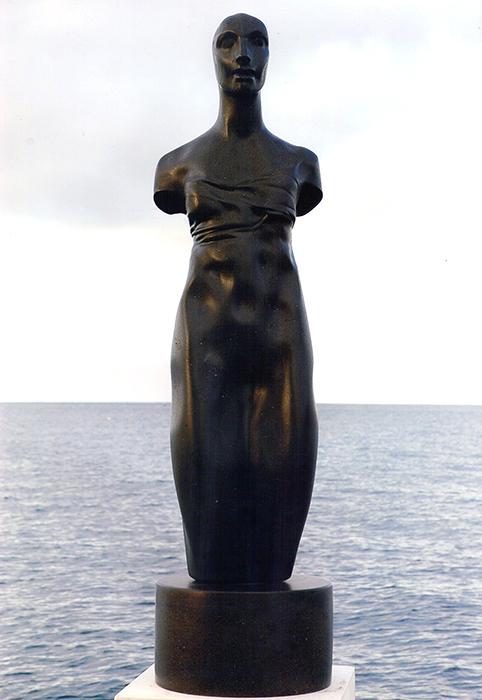 2004 - Lava del Vesuvio - Torso Femminile - Napoli - Coll. L. Tuccillo - 103x27cm