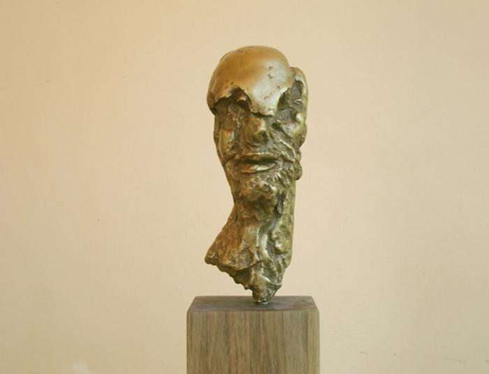 2006 - Bronzo - Profilo - Holland - Coll. Galleria Twee Pauwen - Den Haag - 40x25cm