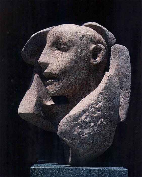 2006 - Pietra d'Ischia - Testa nella Roccia - Napoli - 53x29cm