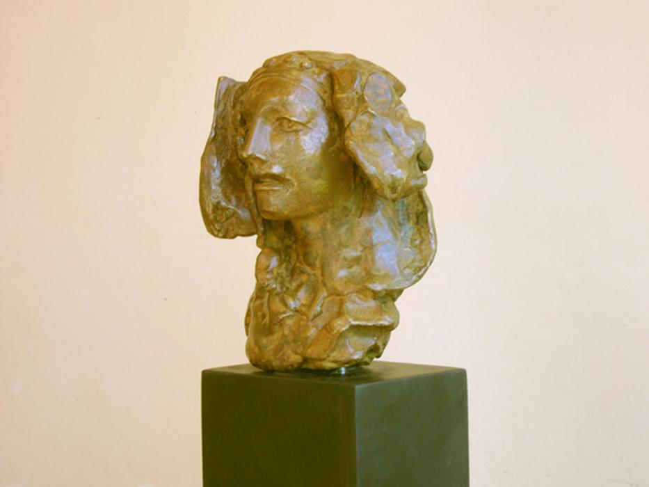 2007 - Scultura in Bronzo - Dama di Elce - Profilo - Hannover - Coll. Carsten - 40x30cm