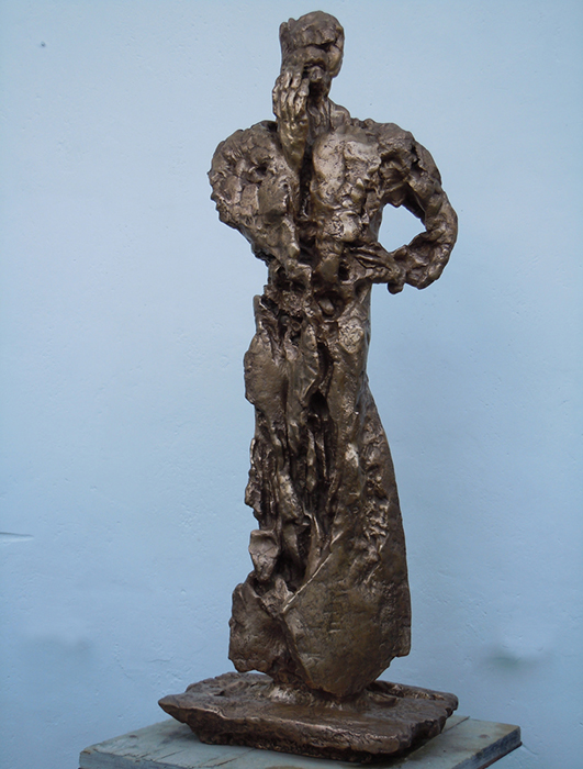 2011 - Bronzo - 11 Settembre - Munchen - Coll. K. Seidel - Ischia - de Angelis - 115x40cm