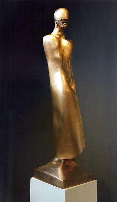 2012 - Bronzo - Uomo Con la Maschera (particolare) - Ischia - Coll. de Angelis - 109x30cm