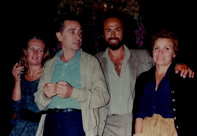 Scultore G. Vangi e de Angelis con le rispettive mogli