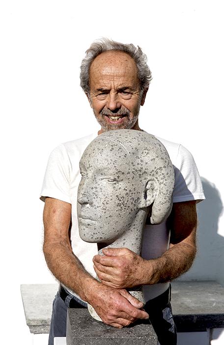 2016 - Pietra d'Ischia - Ritratto Immaginario di Viviana - h.cm.55